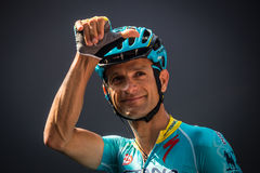 Muggiò, Italy May 26, 2016; Michele Scarponi, team Astana, to the podium signatures before the start of  the stage Royalty Free Stock Image