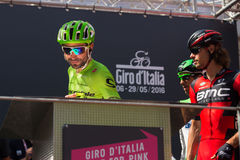 Muggiò, Italy May 26, 2016; Moreno Moser, team Cannondale, to the podium signatures before the start of  the stage Stock Photo
