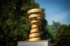 ² MuggiÃ, Италия 26-ое мая 2016; Спиральный трофей путешествия Италии Стоковые Изображения