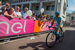 Muggiò, Italy May 26, 2016; Michele Scarponi took it towards the start of the stage Stock Photography
