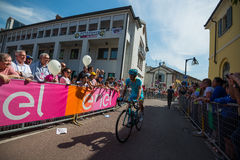 Muggiò, Italy May 26, 2016; Michele Scarponi took it towards the start of the stage Stock Image