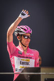 Muggiò, Italy May 26, 2016; Steven Kruijswijk in pink jersey, team Lotto, to the podium signatures before the start of  the stage Stock Image