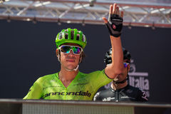 Muggiò, Italy May 26, 2016; Rigoberto Uran, team Cannondale, to the podium signatures before the start of  the stage Royalty Free Stock Image