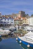 Muggia на заливе Trento стоковая фотография