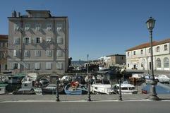 Muggia-Hafen Lizenzfreie Stockfotos