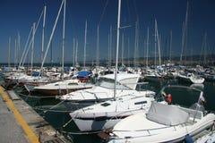 Muggia-port_ jachts Lizenzfreie Stockbilder
