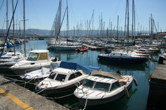 Muggia marina_small boats Royalty Free Stock Image