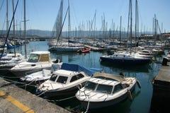 Muggia port_smallfartyg Royaltyfri Bild