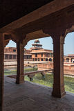 Mughal archictecture of Agra city, India. A courtyard view of the fatehpur sikri compound Stock Image