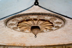 Mughal architecture details, ceiling decoration Royalty Free Stock Photo