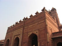 Mughal architecture India. Exterior facade of Mughal architecture on building, India Stock Photos