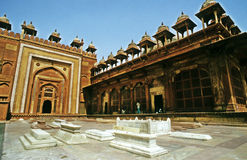 MUGHAL CEMETRY. It is the cemetery beside the Darga (the cemetery) of Selim Chisti at 'Fatehpur Sikri' near AGRA. Where, members of the royal family of Royalty Free Stock Photo