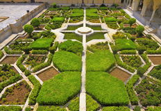 Mughal Indside bursztynu Ogrodowy fort Zdjęcia Royalty Free