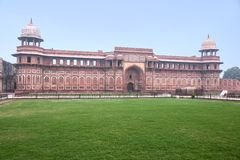 Mughal palace in Agra fort Royalty Free Stock Images