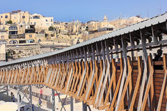 Mughrabi Bridge from the Wailing Wall to the Temple Mount  in Jerusalem Royalty Free Stock Photos
