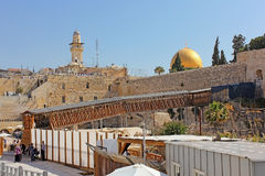 Mughrabi Bridge from the Wailing Wall to the Temple Mount  in Jerusalem Royalty Free Stock Photography