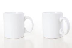 mugs белизна Стоковые Изображения RF