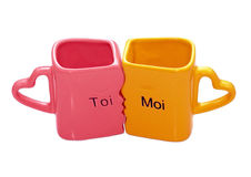 Mugs. Have the ability to love each other Stock Images