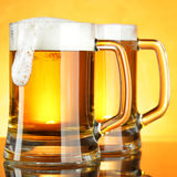 Mugs of beer Stock Photos