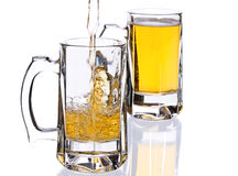 Mugs with beer Stock Photography