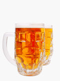 A mugs of beer closeup view Royalty Free Stock Photography