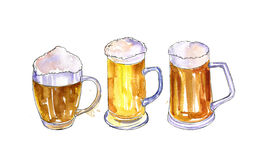 Mugs of beer Stock Photos