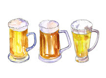 Mugs of beer Royalty Free Stock Photography