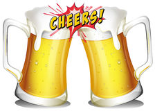 Mugs of beers vector illustration