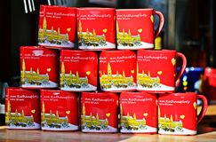 Mugs at the Christkindlmarkt Royalty Free Stock Photos