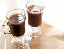 Mugs with cocoa drink Stock Photography