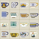 Mugs collection Royalty Free Stock Image