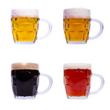 Mugs with different beer Stock Photography