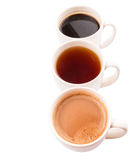 Mugs Of Hot Beverages I Royalty Free Stock Photography