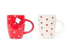Mugs isolated on white background Stock Image
