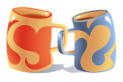 Mugs in Love Royalty Free Stock Images