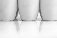 Mugs reflection Royalty Free Stock Photos