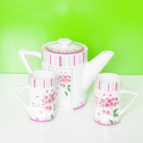Mugs set with pitcher Stock Image