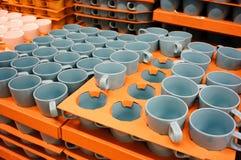 Mugs in stock Stock Image