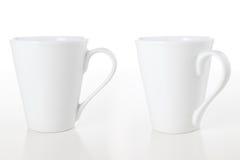 Mugs on White Stock Photography