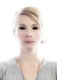 Mugshort ενός όμορφου δαίμονας-όπως τη γυναίκα Στοκ φωτογραφία με δικαίωμα ελεύθερης χρήσης