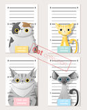 Mugshot of  cute cats holding a banner Royalty Free Stock Image