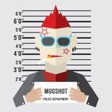 Mugshot Of Gangster. Vector Illustration royalty free illustration