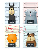 Mugshot śliczni psy trzyma sztandar 4 Obraz Stock