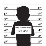 Mugshot Of  Man Silhouette Stock Photography