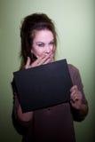 mugshot prychania kobieta Obraz Stock