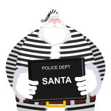 Mugshot Santa Claus al dipartimento di polizia Natale del colpo di tazza L'AR Immagini Stock Libere da Diritti