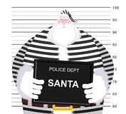 Mugshot Santa Claus at Police Department. Mug shot Christmas. Ar Royalty Free Stock Photography