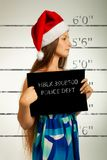 Mugshot of Santa helper Royalty Free Stock Images