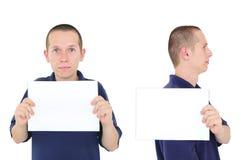 Mugshot van de jonge mens Stock Afbeelding