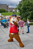 Mugsy – Salem Red Sox. Roanoke, VA – May 13th:  Mugsy, the Salem Red Sox mascot at the March of Dimes - March for Babies located Elmwood Park, Roanoke Royalty Free Stock Images